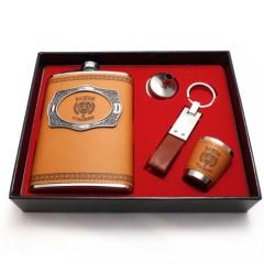 """Подарочный набор """"Важен и отважен"""": фляга, воронка, брелок, стаканчик"""