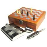 Шахматный набор с флягой, стаканом, ножом