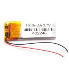 Аккумулятор с проводами 1100 mAh, 3.7V (70 x 27 x 4 мм.)