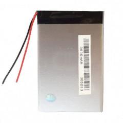 Аккумулятор с проводами 3000 mAh, 3.7V (83 x 52 x 3 мм.)