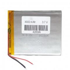 Аккумулятор с проводами 3000 mAh, 3.7V (61 x 60 x 3 мм.)