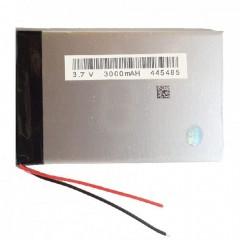 Аккумуляторная батарея с 2-х контактным подключением проводов  - 3000 mAh, 3.7V, размер 90 x 60 x 3,5 мм.