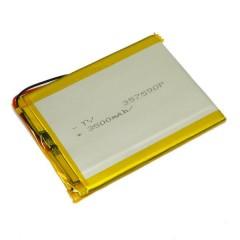 АКБ с 2 проводами, ёмкость 3500 mAh, 3.7V (90 x 75 x 3,5 мм.)