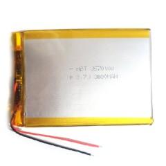 Аккумулятор с проводами для планшета или электронной книги - 3800 mAh, 3.7V (100 x 70 x 3,5 мм.)