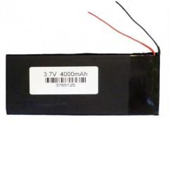 """Аккумулятор с проводами для китайского планшета 8-10"""" - 4000 mAh, 3.7V (125 x 70 x 3,5 мм.)"""
