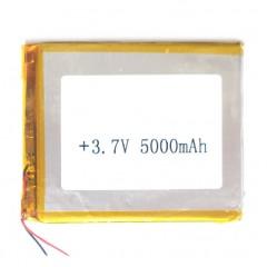 Аккумуляторная батарея с проводами 5000 mAh, 3.7V (105 x 90 x 3,5 мм.)