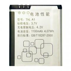 Аккумуляторная батарея ThL A1 1100 mAh, 3.7V, 4.07Wh, размер 53 x 46 x 4,5 мм.