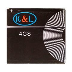 Аккумуляторная батарея K&L 4GS 1300 mAh, 3.7V, размер 47 x 50 x 4 мм.
