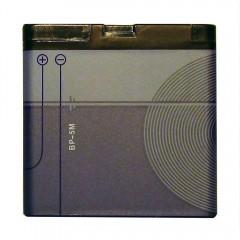 Усиленный аккумулятор BP-5M 1500 mAh (40 x 41 x 5,5 мм.)