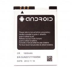 Аккумуляторная батарея Android 1600 mAh, 3.7V, 5.92Wh, размер 59 x 44 x 4 мм.