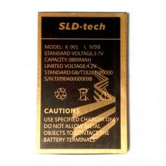 АКБ SLD-tec K-901 / N98 3800 mAh, 3.7V, размер 69 х 44 х 5 мм.