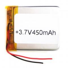 Аккумуляторная батарея 450 mAh с припаянными проводами (22 x 20 x 3 мм.)