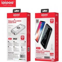 Power Bank Ipipoo LP-7 10000 mAh (USB 2.0, USB Type-C, micro USВ + беспроводная зарядка)