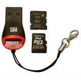 Карт-ридер Explay для Micro SD+M2