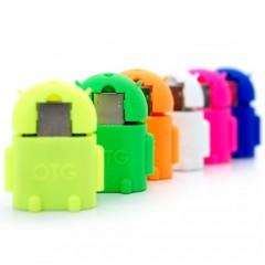 Стильный USB-OTG переходник в форме фирменного робота Android (MicroUSB - USB)