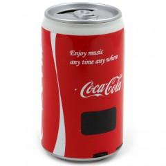 Портативная MP3 колонка банка Coca Cola (MP3 / FM / USB / TF / AUX)