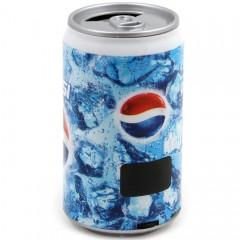 Портативная MP3 колонка банка Pepsi с дисплеем (MP3 / FM / USB / TF / AUX)