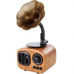 Колонка ретро-граммофон AS90 (Bluetooth / USB / SD)