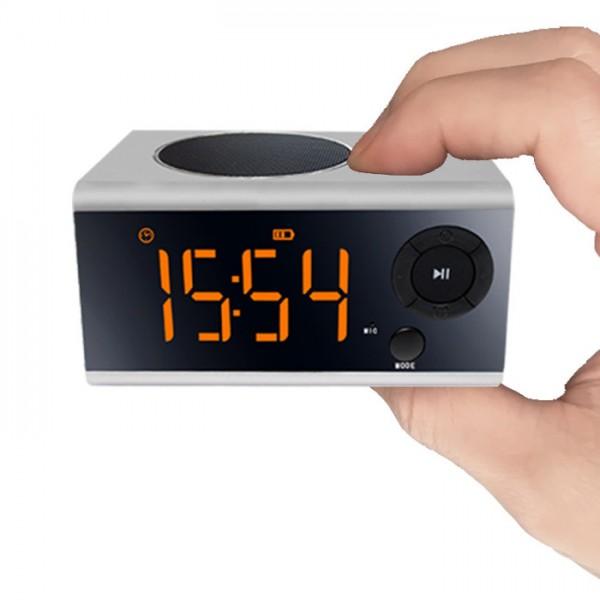 портативная колонка часы с будильником Mp3 и Fm радио Musky Скачать mp3