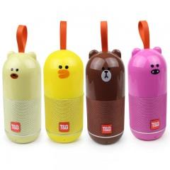 Детская Bluetooth аудио-колонка зверята TG-502 (5 Вт) (FM / USB / SD / AUX)
