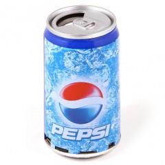 Портативная MP3 колонка банка Pepsi (FM / USB / MicroSD)