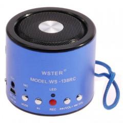 Портативная MP3 колонка WS-138RC с FM, USB, Micro SD