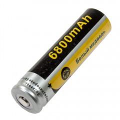 Литиевая батарейка (аккумулятор) 18650 Li-ion, 6800 mAh, 3.7V (18 x 65 мм.)