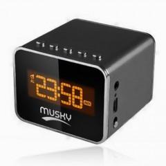 Колонка MP3 проигрыватель с будильником и часами Musky DY-07 Mini-HiFi Speaker