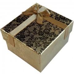 Подарочная коробка для часов с подушечкой (цвет золото и серебро)