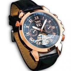 Роскошные мужские механические часы Jaragar турбийон с автоподзаводом и датой