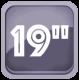 Диагональ экрана телевизоров - 19 дюймов