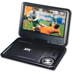 Портативный CD-DVD плеер с поворотным экраном 9,8 дюймов XPX EA-9067 (FM / TV / USB / SD)
