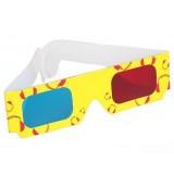 Картонные анаглифные 3D-стерео очки