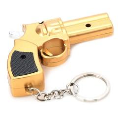 Светодиодный фонарик в виде брелка-револьвера с лазерной указкой