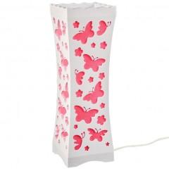"""Декоративный белый настольный светильник-ночник """"Рой бабочек"""" с необычным дизайном"""