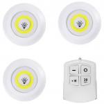 Набор 3 LED лампы с пультом BL-1012