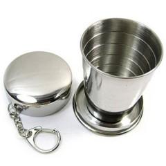 Подарочный складной походный стакан в виде брелка (50/100/250 мл.)