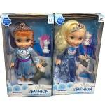 Куклы принцессы Эльза и Анна с оленем и Олафом