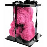 Медведь из бутонов роз с лентой (40 см.)