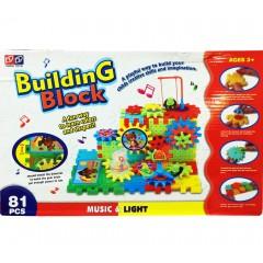 Развивающий конструктор Building Block (Билдинг блок) (81 деталь)