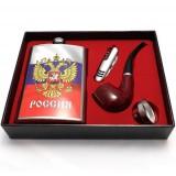 """Набор """"Россия"""": фляга, нож, трубка, воронка"""