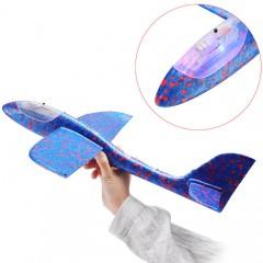 Метательный самолет-планер из пенопласта со светом (48 см.)