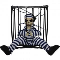 Сувенир-игрушка «Скелет в клетке» для веселого розыгрыша