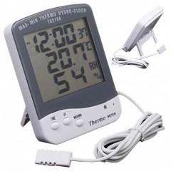 Термометр TA218A с датой, временем, влажностью и выносным датчиком