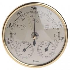 Настенный барометр анероид + термометр + гигрометр THB9392 Ø13 см.