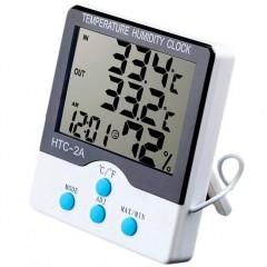 Цифровой термометр + гигрометр HTC-2A с выносным датчиком