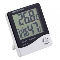 Настольные часы HTC-1 с гигрометром и термометром