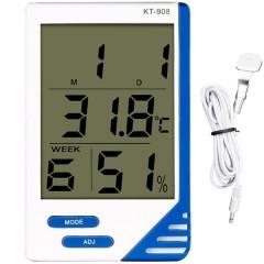 Термометр KT-908 с гигрометром и выносным датчиком