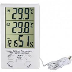 Термометр TA298 с гигрометром (датчиком влажности) и уличным датчиком