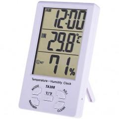 Комнатный измеритель температуры и влажности TA308 с часами